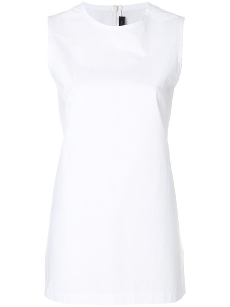 long women white cotton top