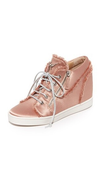 sneakers lace satin shoes