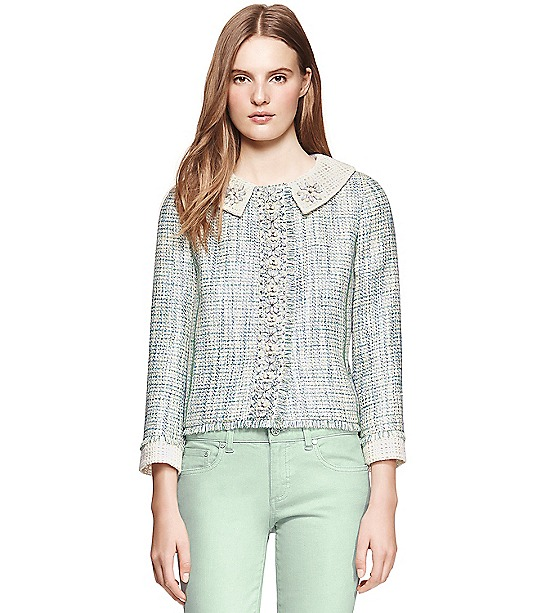Tory Burch Regina Jacket  : Women's Jackets & Outerwear | Tory Burch