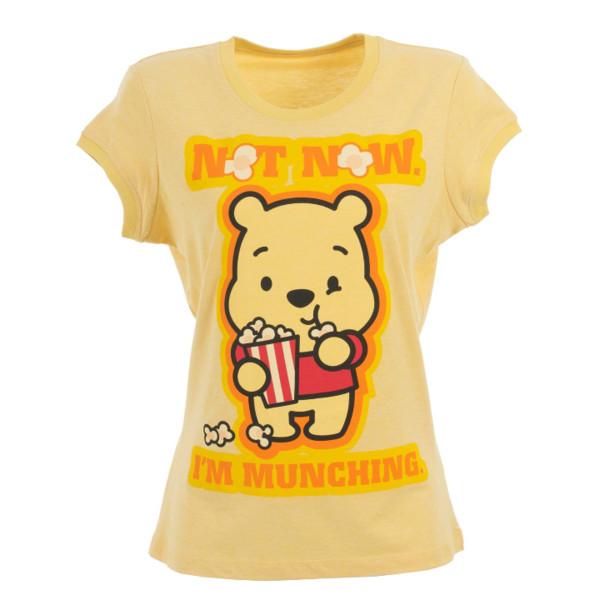 t-shirt winnie the pooh yellow t-shirt munchies