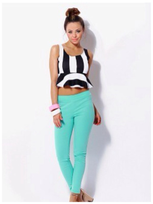 pants leggings mint spring outfits