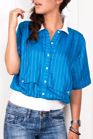 Sweet Blues Button Up Tee                             Citizen Collective