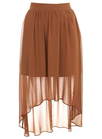 Ginger drop back skirt