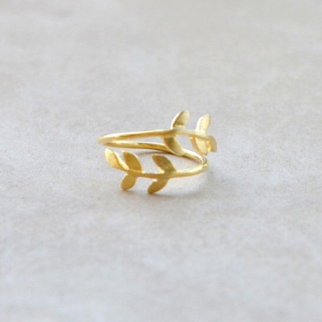 Fashion cute blade leaf ring gold color ✨ 2pcs ✨ ...