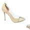 4 inch heels - nude/gold plexi heels
