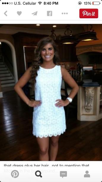 dress white dress graduation dress lace dress
