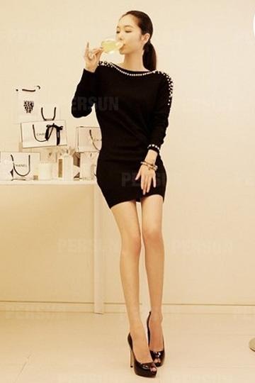 Sexy Backless Pearls Beading Dress [FXBI00495] - PersunMall.com