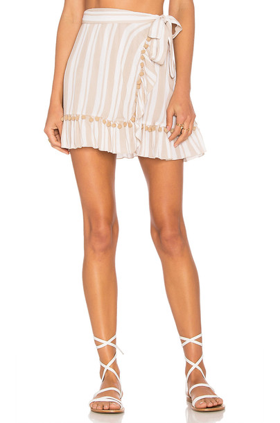 Lovers + Friends x REVOLVE Alicia Skirt in beige / beige