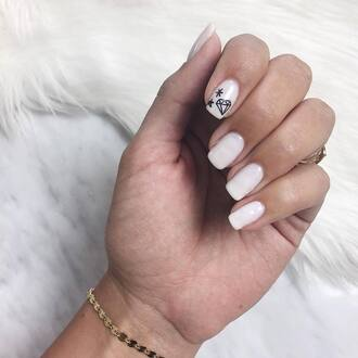 nail accessories tumblr nail polish nails nail art white nails bracelets gold bracelet jewels jewelry gold jewelry