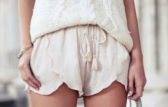 shorts pale light pink beige comfy cozy cute cute shorts tumblr sweater white
