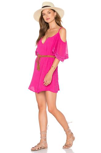 dress tunic dress pink