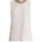 Fig bead-embellished sleeveless wool top