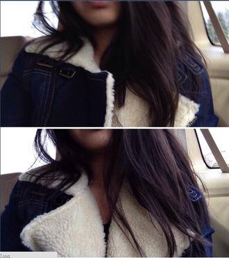 jacket girls jeans denim jacket fleece fashion