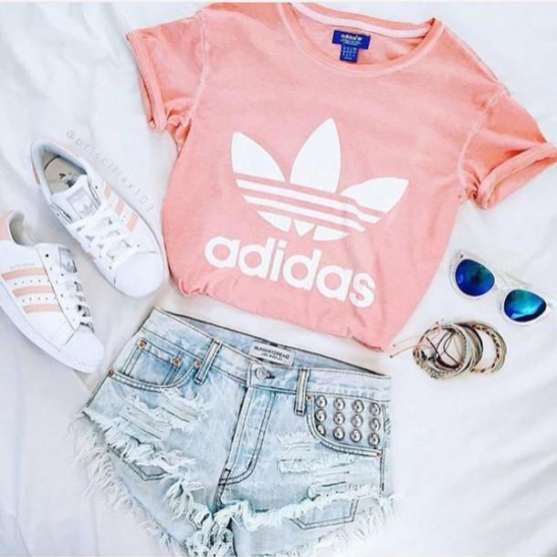 good adidas outfits pink men