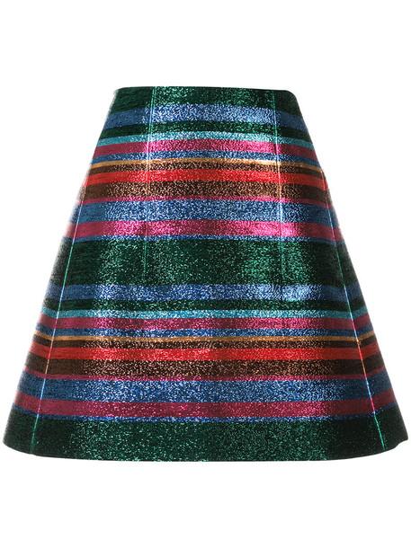 DELPOZO skirt women cotton grey metallic