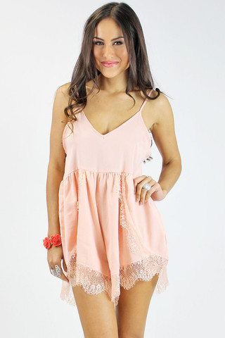 Keep dreaming playsuit in dusty pink