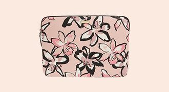 bag laptop sleeve flowers floral pink laptop case laptop bag laptop kate spade