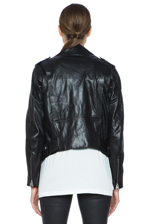 Acne Studios|Mape Lambskin Moto Jacket in Black