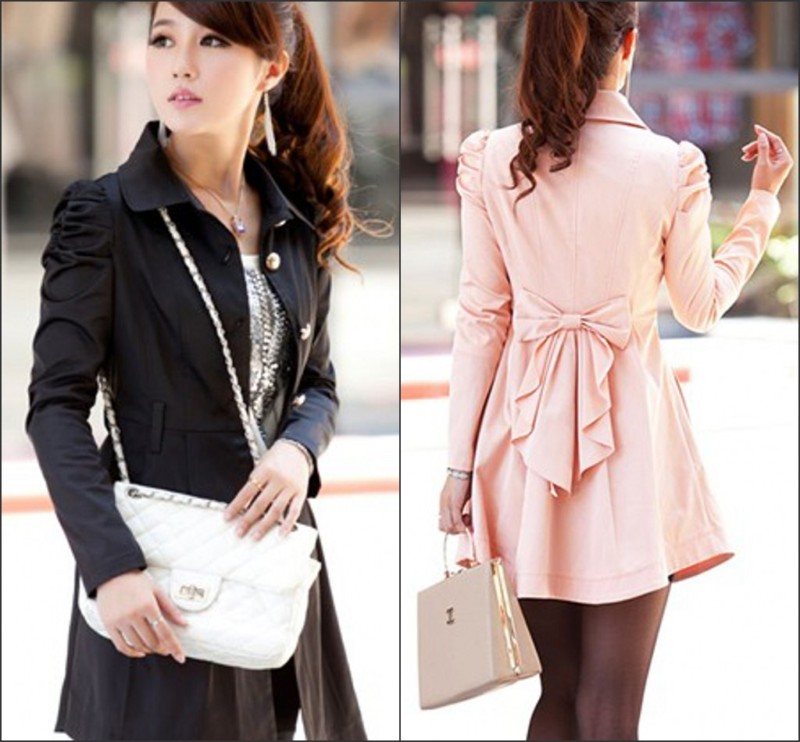 Gift Belt Womens New Vara Bow Single Breasted Leisure Coat Jacket ...