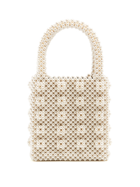 8d3abd2e97d SHRIMPS Antonia faux-pearl embellished bag in cream - Wheretoget
