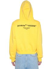 hoodie,sweatshirt,cropped,cotton,print,yellow,sweater