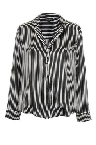shirt striped shirt satin monochrome top