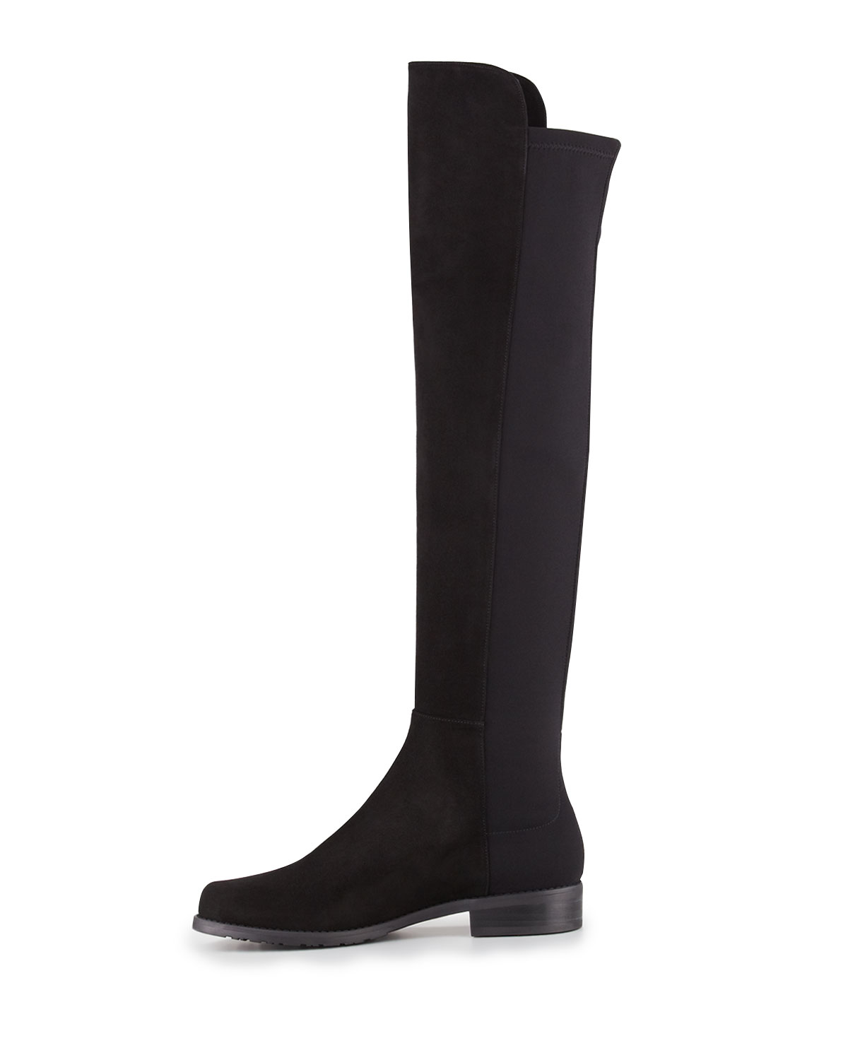 Knee boot, black (made to order)