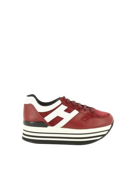 Hogan sneakers platform sneakers white red shoes