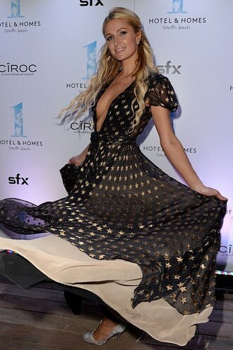 dress maxi dress paris hilton pumps shoes