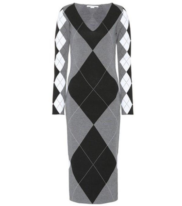 Stella McCartney Argyle wool-blend dress in grey