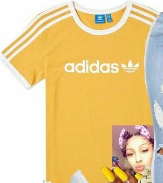 t-shirt adidas yellow