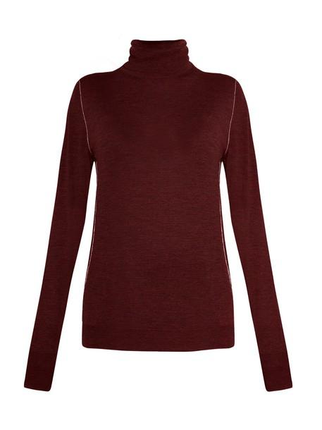 GOLDEN GOOSE DELUXE BRAND sweater wool sweater wool burgundy