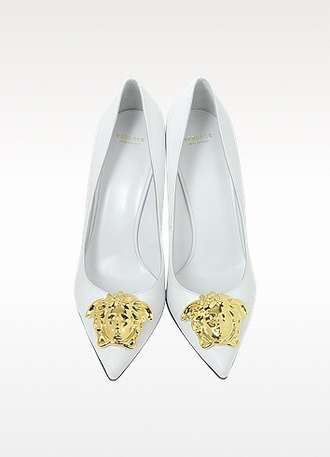 shoes versace medusa white