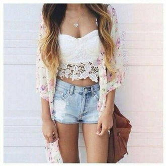 top corset white lace summer