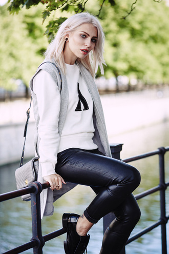 masha sedgwick blogger shoes jacket pants sweater bag