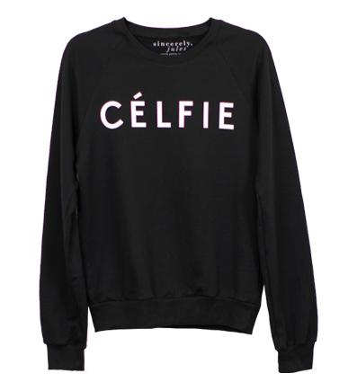 Célfie© raglan sweatshirt / sincerely jules