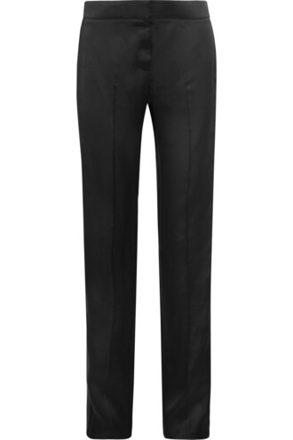 pants silk satin black