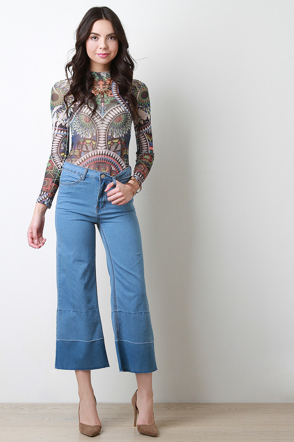 culotes en jeans