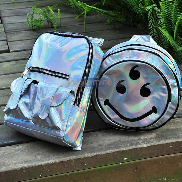 Aliexpress.com : Buy Colorful Laser Bag For Women Shoulder Backpack Silver Hologram Laser Gold Harajuku Iridescent Metal Holographic Laser School Bag from Reliable bag suppliers on FASHION WEEKEND