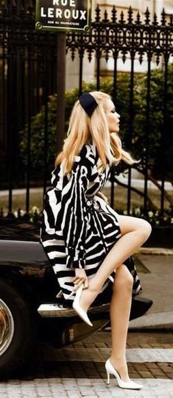 animal print style high heels coat glamgerous