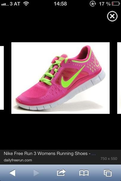 shoes nike pink sport
