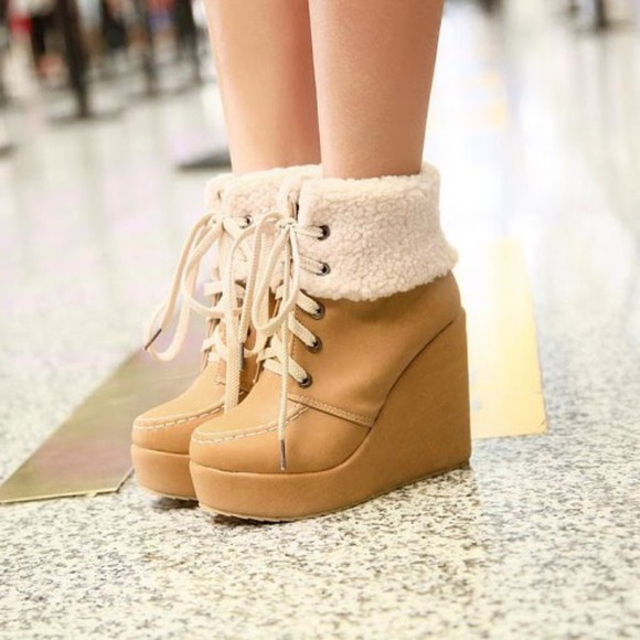 ankle boots fur