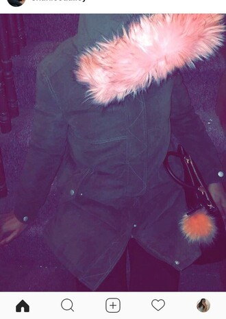 jacket pink pink fur girly cute i need this help idk
