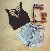 shirt,crop tops,black,aztec,shoes,pants,jewels,top,tank top,shorts,bracelets,High waisted shorts,sandle,sandles,sandals,studded,gladiators,flowers,embroidered