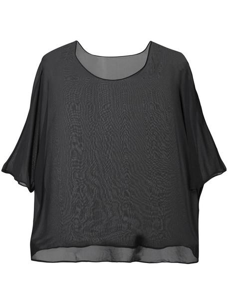 Zambesi top embroidered women black silk