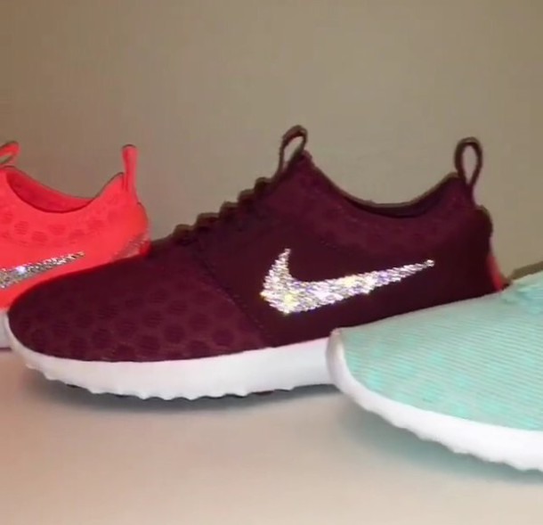 shoes nike maroonburgundy sparkle sneakers wheretoget