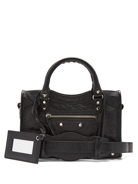 Balenciaga metallic classic bag black