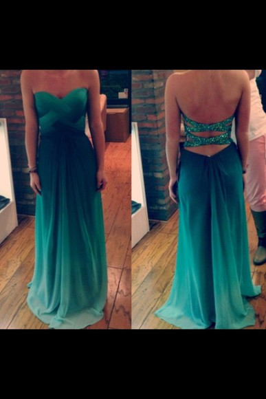 turquoise sparkly tumbar prom. fresa dress prom dress long prom dresses long prom dress green jade sparkles dipdye 2014 prom dresses green