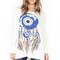 Kayla lrg evil eye dreamcatcher l/s oversized cape top