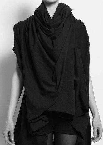 black scarf long infinity scarf eternity scarf long scarf black scarf